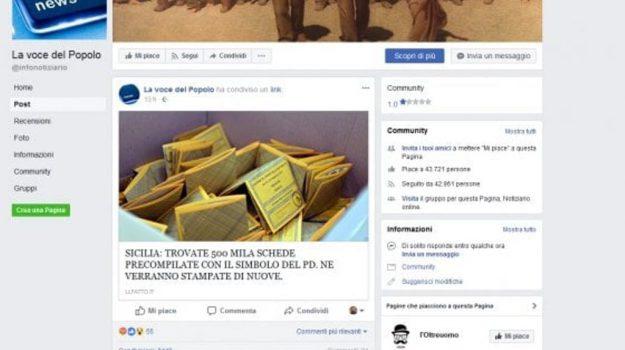 bufala schede elettorali, elezioni fake news, elezioni politiche 2018, Sicilia, Politica