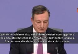 Dopo voto in Italia, Draghi: «L'instabilità protratta può minare la fiducia»