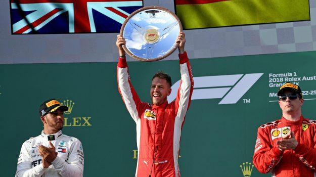 Ferrari, gp australia, Lewis Hamilton, Sebastian Vettel, Sicilia, Sport