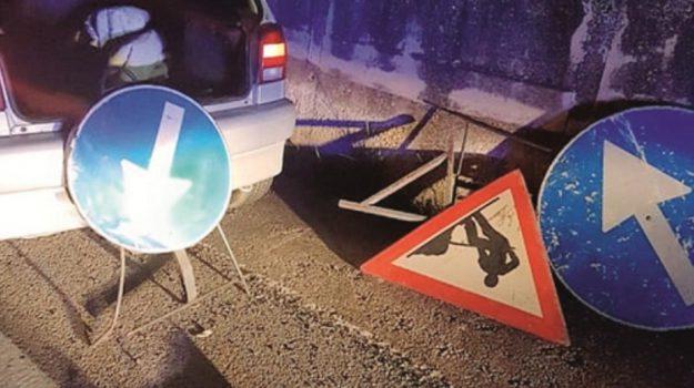 furto segnaletica stradale, Agrigento, Cronaca