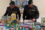 Sequestrati 170 mila giocattoli e gadget contraffatti a Catania