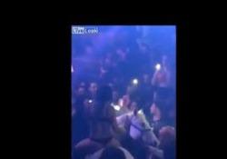Il cavallo in discoteca si ribella e disarciona la showgirl panico e polemiche degli animalisti