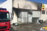 Incendio in una concessionaria di Bagheria