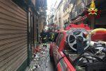 Incendio in una profumeria a Palermo