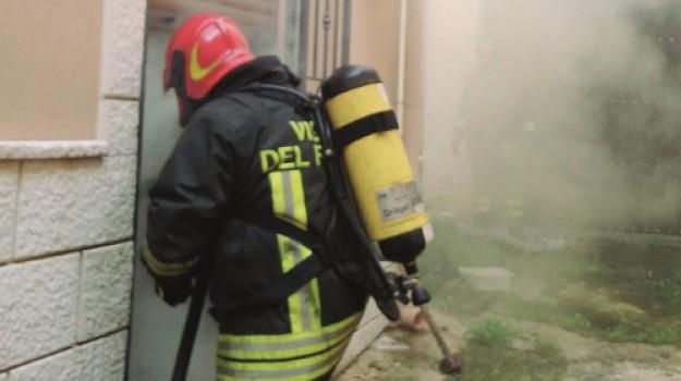 incendio canicattì, Agrigento, Cronaca