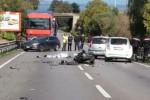 Palermo-Agrigento, schianto con un tir: motociclista di 56 anni muore a Villabate