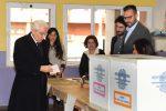 Politiche 2018, il presidente della Repubblica, Sergio Mattarella, ha votato a Palermo