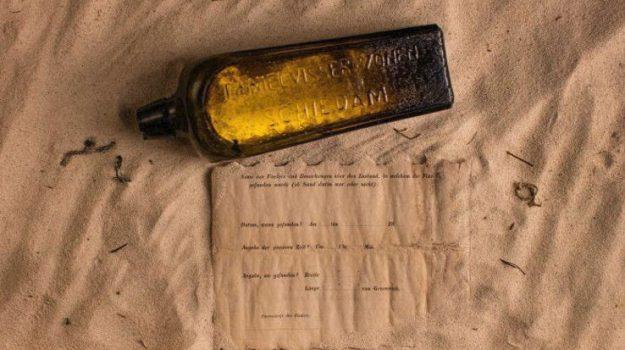 messaggio in bottiglia, Sicilia, Mondo