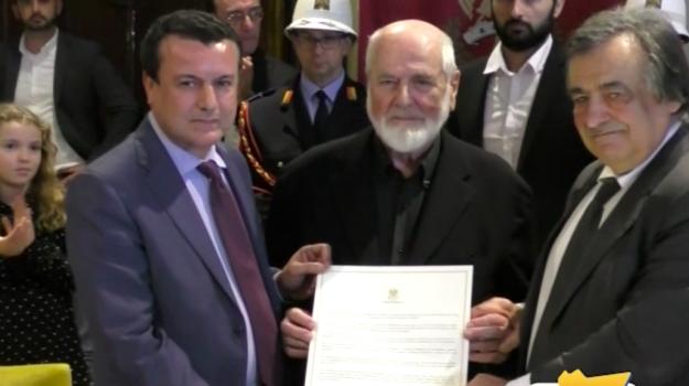 Palermo, la cittadinanza onoraria all'artista Michelangelo Pistoletto