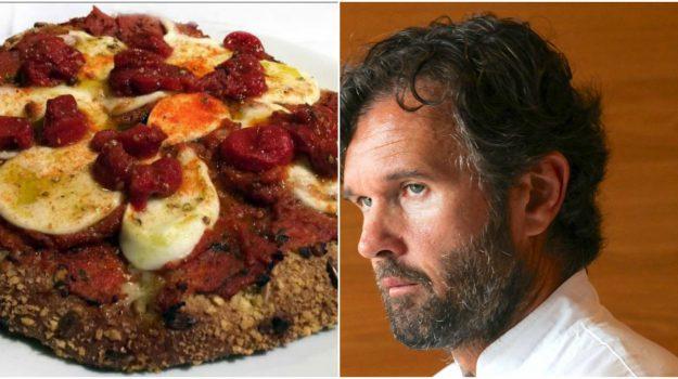 pizza margherita, pizza margherita cracco, Carlo Cracco, Sicilia, Società