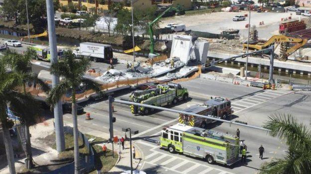 Crollo ponte Miami, Ponte crollato Miami, Sicilia, Mondo