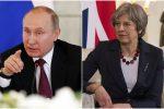 Vladimir Putin e Theresa May