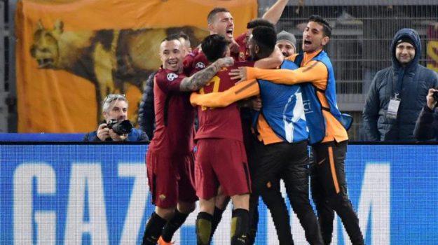 champions league, Roma Champions League, Roma Shaktar, Edin Dzeko, Sicilia, Sport