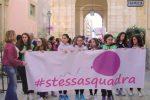 Manifestazione a Marsala, cittadini in piazza in difesa dei diritti delle donne