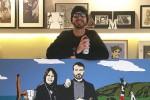 """Murales e sfida ai """"palazzi"""": chi è il writer palermitano del bacio Salvini-Di Maio"""