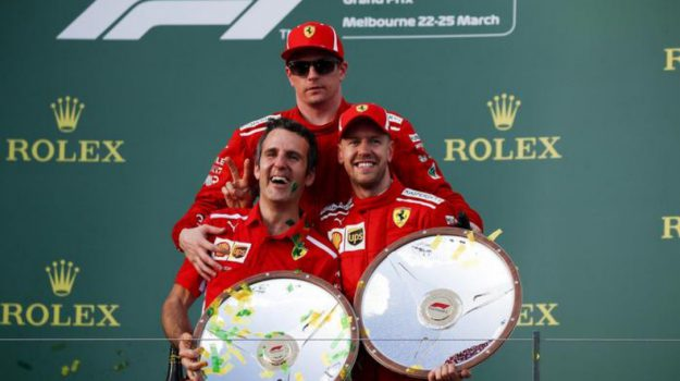 gp australia, Vittoria Ferrari, Kimi Raikkonen, Sebastian Vettel, Sicilia, Sport