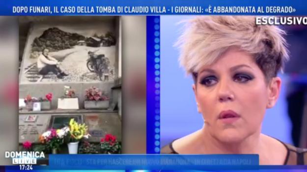 domenica live, tomba claudio villa, Barbara D'Urso, Claudio Villa, Claudio Villa Junior, Sicilia, Società