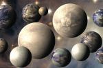 Rappresentazione artistica di pianeti esterni al Sistema Solare (fonte: NASA)