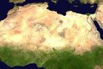 Il deserto del Sahara visto dallo spazio (fonte: NASA)
