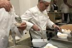 Lo chef dell'Ambasciata di Francia in Italia Hubert Malidor insieme allo chef Foglieni