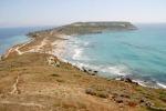 Veduta della spiaggia di Tharros a Oristano