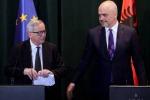 Il presidente della Commissione europea Jean-Claude Juncker in Albania