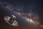 Rappresentazione artistica della missione Gaia (fonte: ESA/ATG medialab; ESO/S. Brunier)