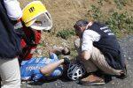 Michael Goolaerts soccorso in gara