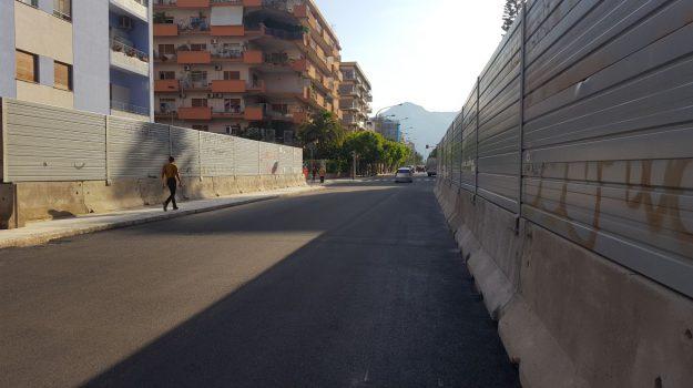 Palermo, la riapertura di viale Lazio e la gioia di residenti e commercianti