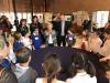 Amalia Ercoli Finzi, del Politecnico di Milano, e Marco Molina, di Leonardo, illustrrano ai ragazzi il trapano della missione  ExoMars nel Festival delle Scienze di Roma (fonte: Leonardo)