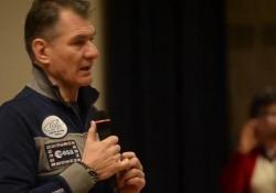 L'astronauta a Torino visita le strutture Altec e Alenia