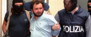 Giovanni Brusca al momento dell'arresto nel 1996