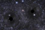 Simulazione dei buchi neri che si formano e collidono in un ambiente ad alta densità stellare (fonte: MIT)