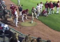 Un episodio curioso è accaduto durante l'ultima giornata di campionato universitario di baseball americano