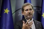 Il commissario Ue all'allargamento, Johannes Hahn