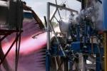 Test del motore a ossigeno e metano (fonte: Avio)