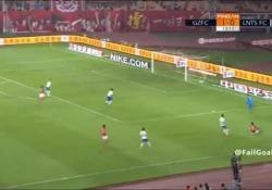 La partita è tra Guangzhou Evergrande e Shandong Luneng, valida per il campionato cinese.