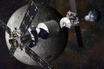 Rappresentazione artistica di una stazione spaziale attorno alla Luna (fonte: Lockheed Martin)