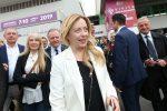 Giorgia Meloni all'apertura del Vinitaly 2018 a Verona
