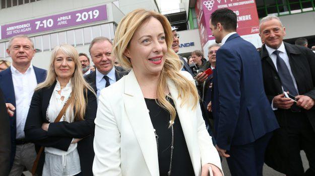 fratelli d'italia, nuovo governo, Vinitaly 2018, Giorgia Meloni, Sicilia, Politica