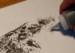 Il talentuoso artista croato usa la polvere da sparo nelle sue opere