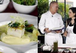 Il baccalà «pil-pil» alla basca con broccoli e olive dello chef Elio Sironi