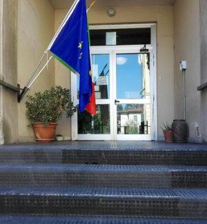 L'ingresso dell'Itc Carrara di Lucca