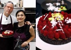 La torta (facile) di cioccolato e lamponi di Ernst Knam