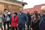 Il segretario della Lega Matteo Salvini a San Giuliano, in Molise
