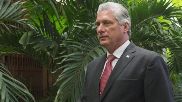 Presidente Cuba, Miguel Diaz-Canel, Sicilia, Mondo