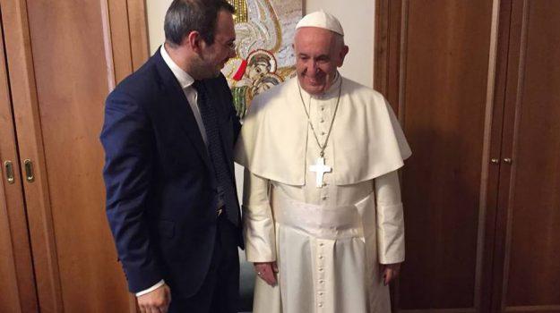 Incontro Borrometi Papa Francesco, Paolo Borrometi, Papa Francesco, Ragusa, Cronaca