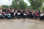 La protesta dei disabili gravi all'Ars lo scorso aprile