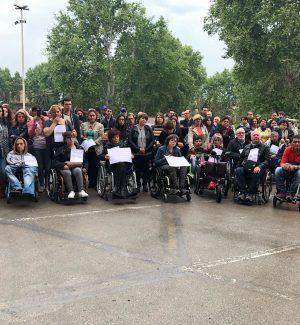 La protesta dei disabili gravi all'Ars lo scorso anno
