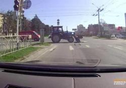 Il video è stato catturato ad un incrocio della città di Stavropol